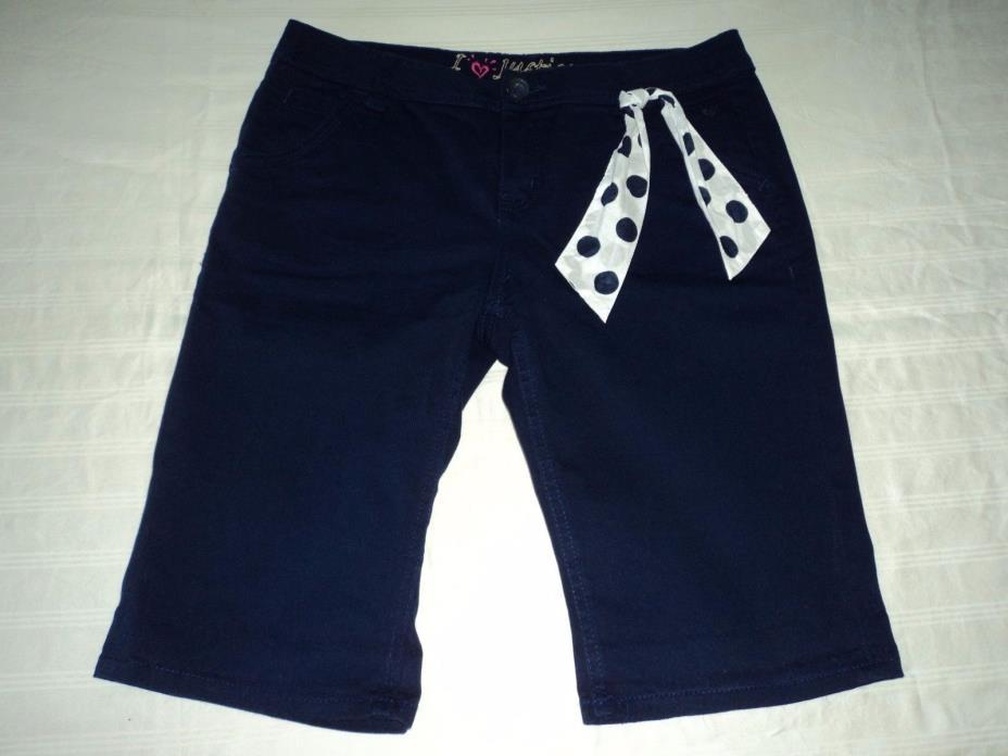 Justice Shorts Bermuda Style Navy Blue Justice 16 Shorts Bermuda Style Chino