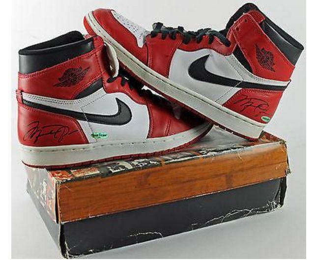 Signed Air Jordans Nike Michael Jordan Autograph x2 w/Box 1994 Chicago Bulls NBA