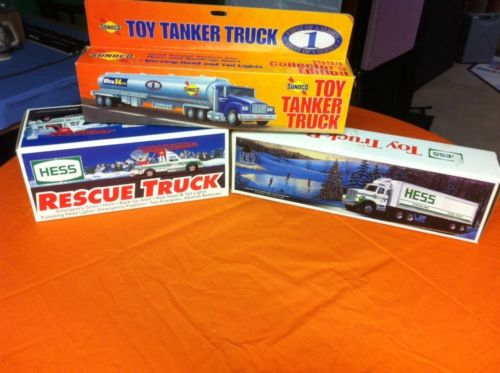 Hess/Sunoco Toy Truck Lot