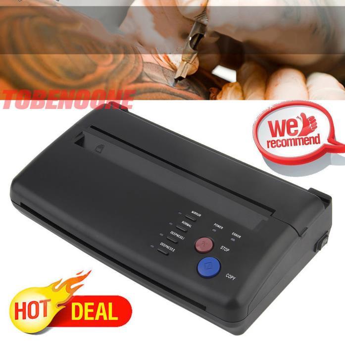 Tattoo Stencil Maker Transfer Machine Flash Thermal Copier Printer Supplies VIP