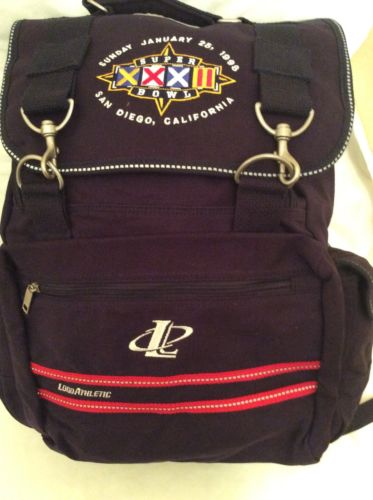 Logo Athletic 1998 Super Bowl XXXII Back Pack Broncos Packers VIP Package