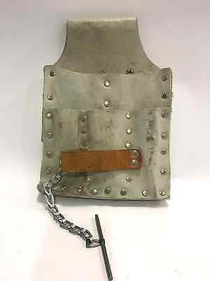 LINEMAN UTILITY LEATHER TOOL BELT POUCH