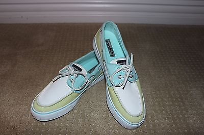Sperry Top-Sider Women's Green, Blue, & White WORN ONCE