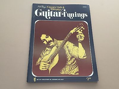 Mel Bay's Country, Folk & Bluegrass Guitar Tunings Tommy Flint 1973 Music Book