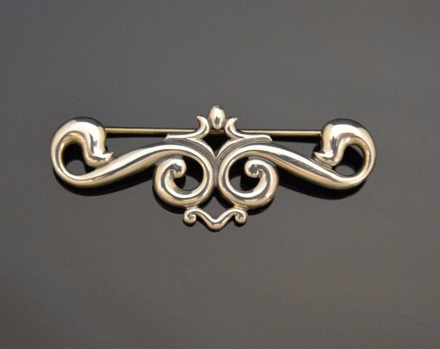 Retired James Avery Scroll Brooch ed