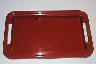Vintage Plastic Melamine Rust Brown Red Rubbermaid Servingware Large Tray