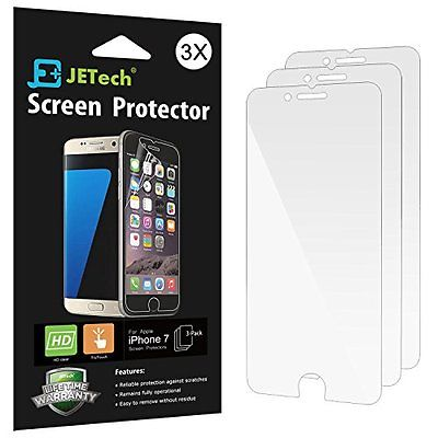 Screen Protectors iPhone 7 Screen Protector, JETech 3-Pack Screen Protector film