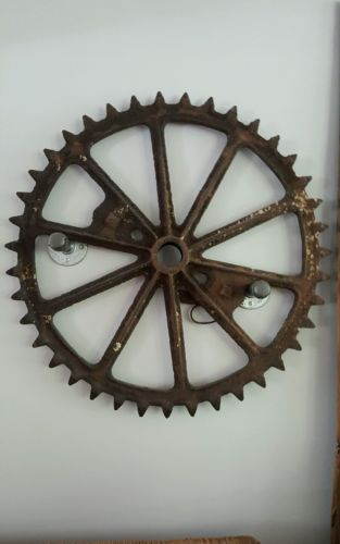 Antique Cast Iron Gear- Large 28 inches across- Vintage, Rustic, Industrial Deco