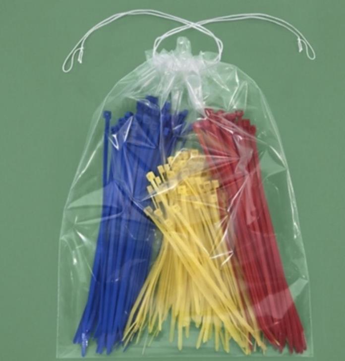 25  Drawstring Tote Shoe Bag Clear Plastic Bags 9x12 NEW