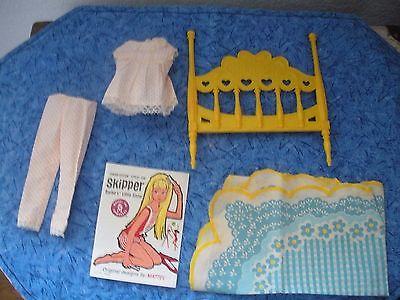 Vintage Barbie Skipper Doll Bunkbed Parts & Pajamas