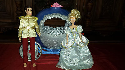 Disney Cinderella Pumpkin Coach with Cinderella and Vintage Prince Dolls
