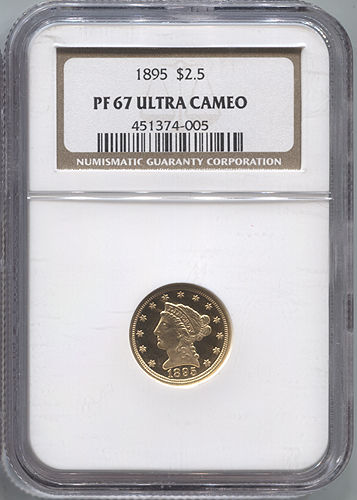 1895 $2 1/2 Gold Liberty NGC PF67 Ultra Cameo