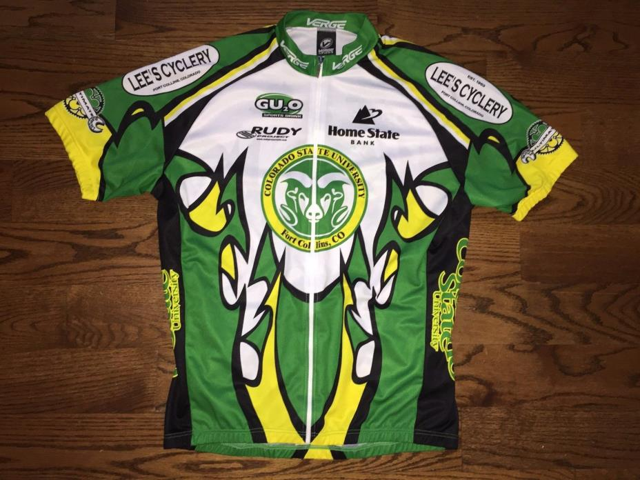 (XXL) Men's Verge Sport Colorado State Rams Cycling Multi-Color Full Zip Jersey