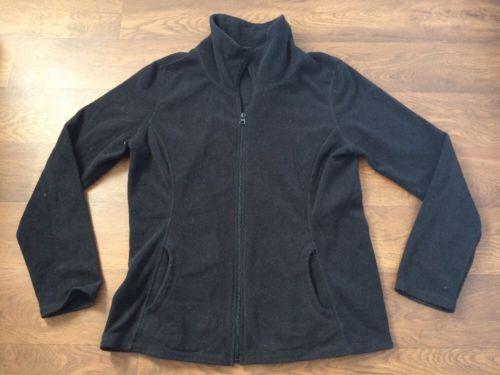 Old Navy large black fleece zip up jacket