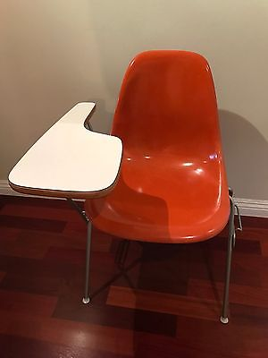 Authentic Vintage Herman Miller - Eames School Shell Chair and Desk Orange- Mint
