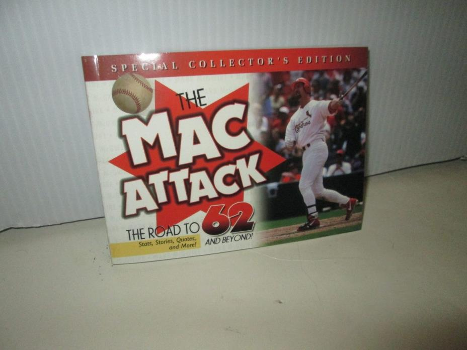 MARK McGWIRE MAC ATTACK BOOK ROAD TO 62 & 2 BASEBALL CARDS ST LOUIS CARDINALS
