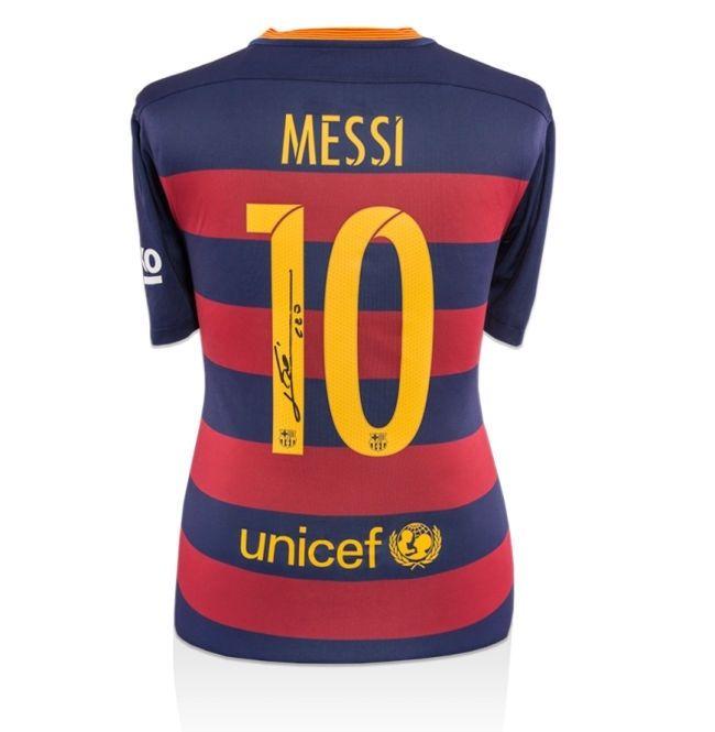 Lionel Messi autographed Jersey FCB Home