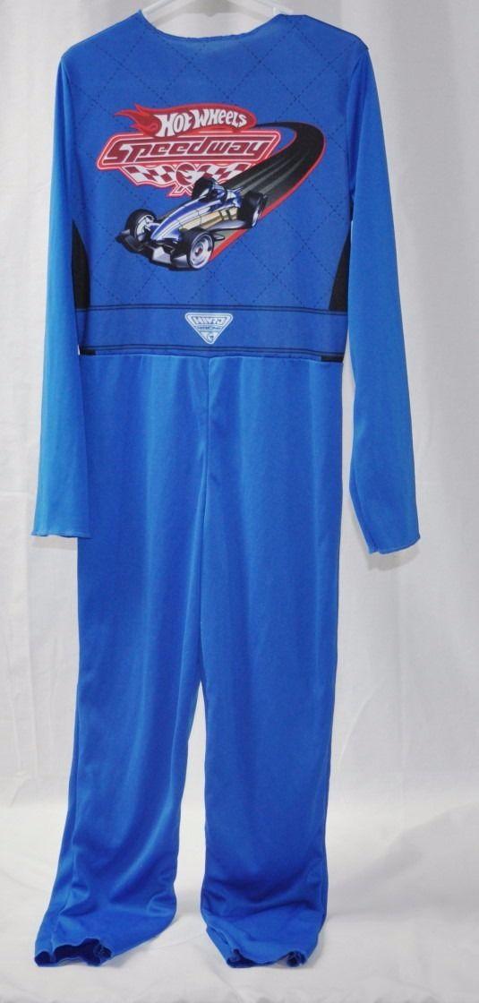 BOYS 2009 HOT WHEELS BATTLE FORCE 5 JUMPSUIT DRESS UP COSTUME SIZE MEDIUM M 7-8