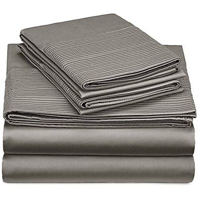 Sheet Pillowcase Sets Pinzon 400-Thread-Count Egyptian Cotton Pleated Hem Sheet