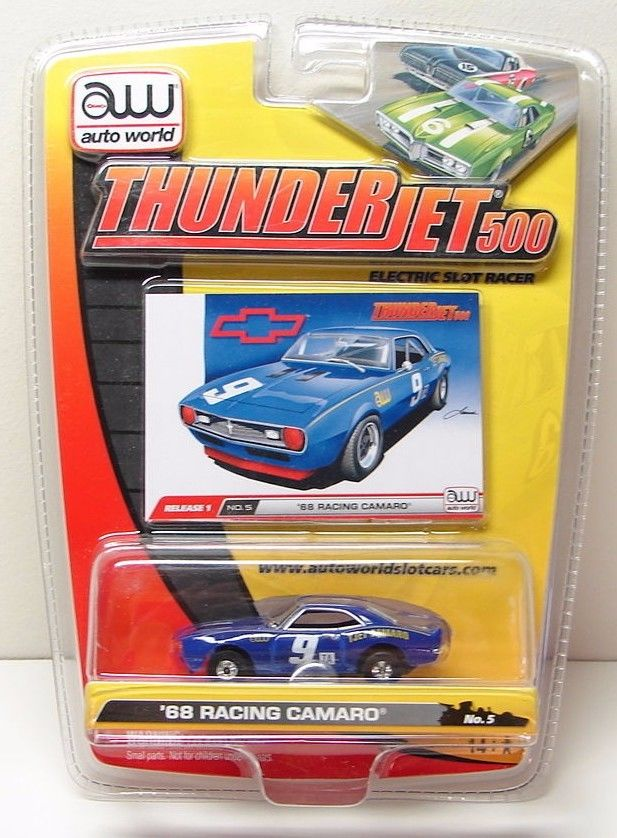 Auto World 68 CHEVY RACING CAMARO HO Slot Car - New in Pack -  NIP