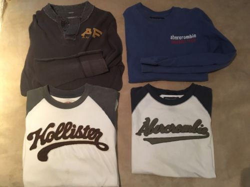 Lot of 4 Abercrombie & Hollister Men's Shirts SMALL
