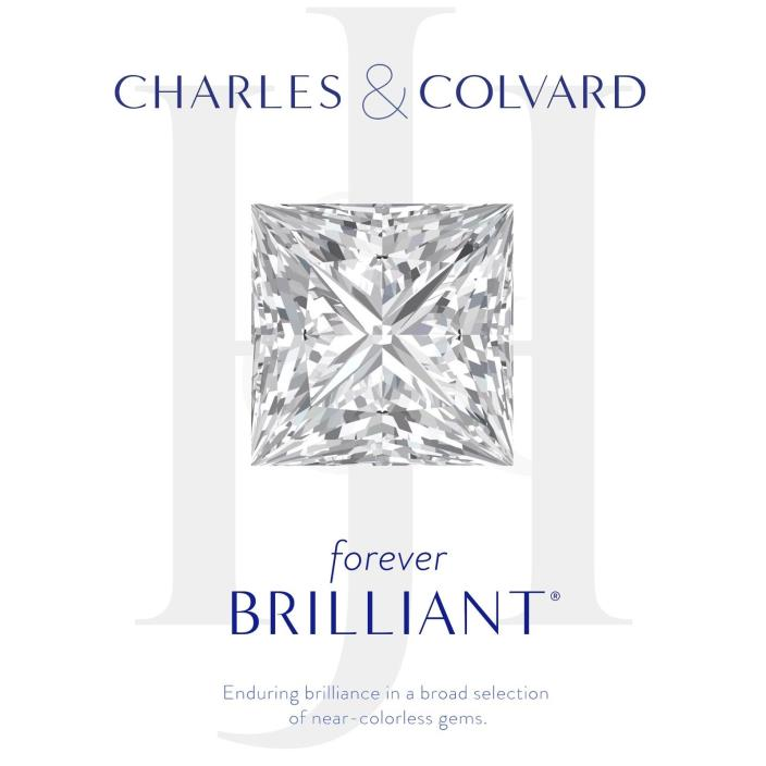 Princess Charles Colvard Forever Brilliant 4.52 ct Moissanite Loose Stone 9 mm