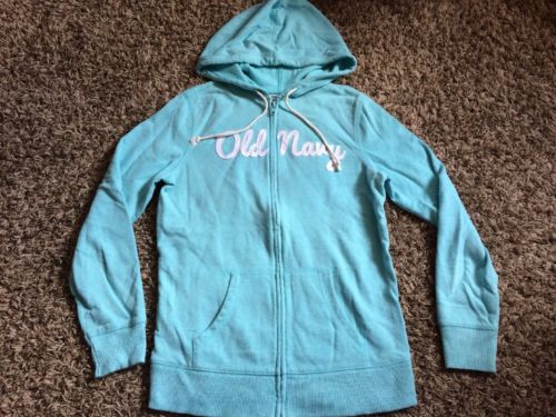 blue small Old Navy brand zip up hooded jacket