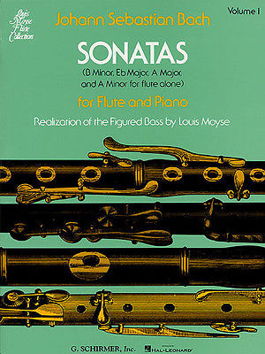 Bach Sonatas for Flute and Piano Vol 1 Late Intermediate Sheet Music Book NEW