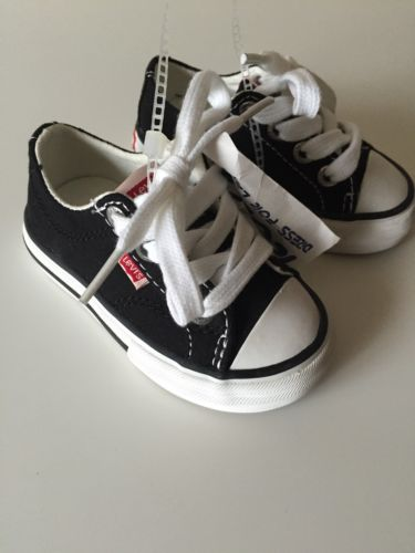 Boys LEVI'S Shoes Size 5 Toddler Baby Boys Walker Black Shoes NEW