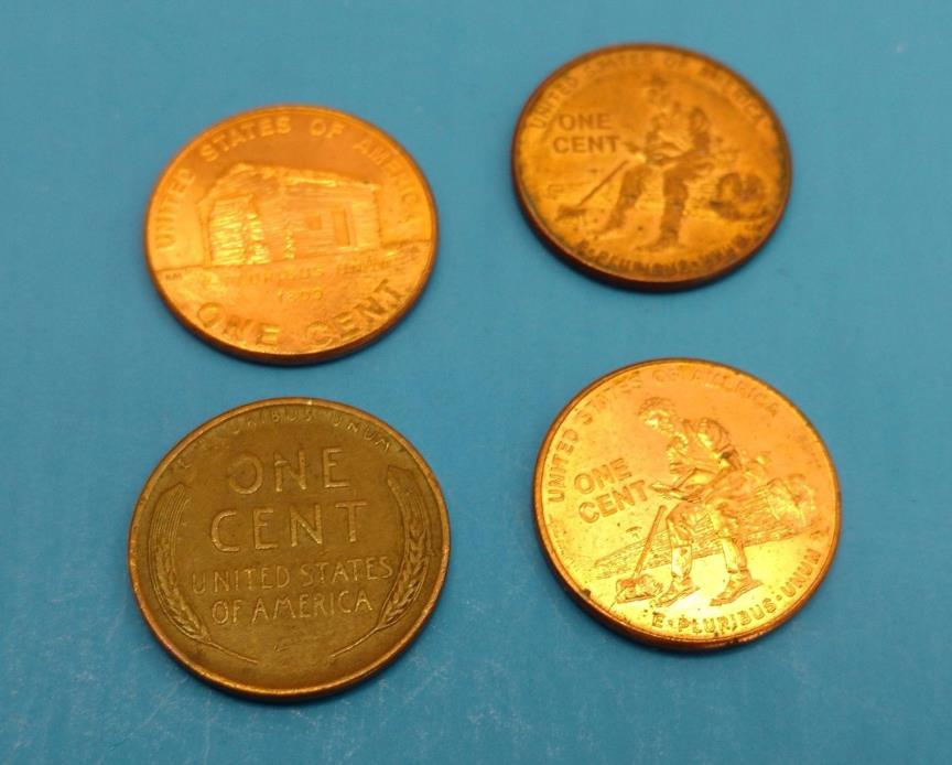 Set of 3 Collector Lincoln Penny 2009 and 1955 Wheat Penny