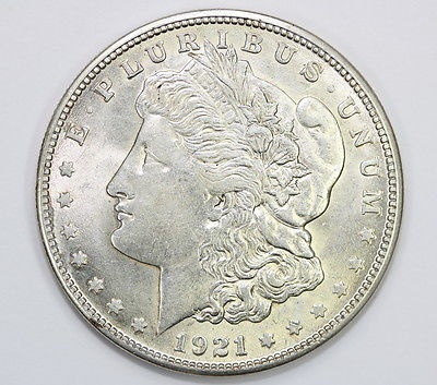 1921 S Morgan Silver Dollar Brillant Uncirculated BU (#2058)