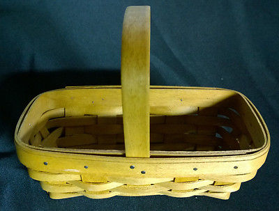 Small Longaberger Basket with Handle 2004 Signed