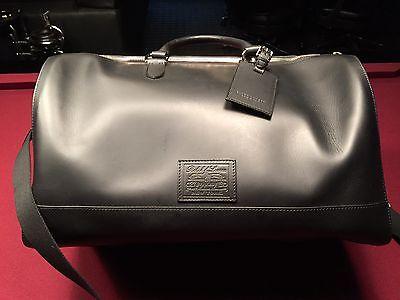 $2000 Ralph Lauren Black Weekender / Duffle Bag  Made in Italy  NEW