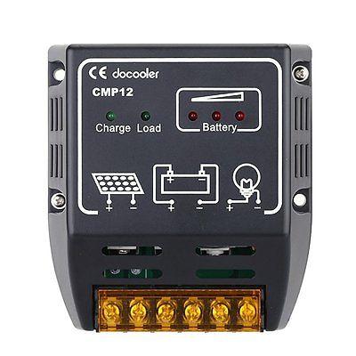 134895 docooler 10A 12V/24V Solar Charge Controller Solar Panel Battery Regul...