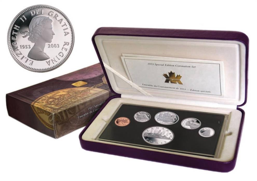 1953 - 2003 Special Edition Coronation Silver Proof Set, Queen Elizabeth