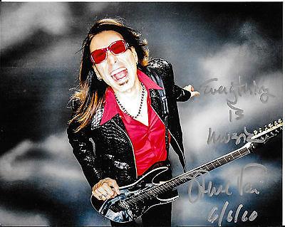 Steve Vai SIGNED Photo of Ibanez Jem Guitar NAMM David Lee Roth