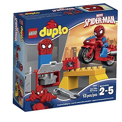 Building Toys LEGO Super Heroes Spider-Man Web-Bike Workshop Building Kit