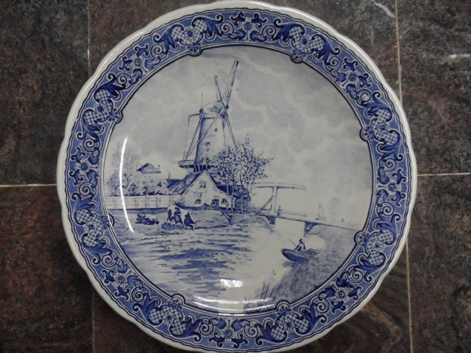 Two Antique Delft Plates by Boch Belgium (12