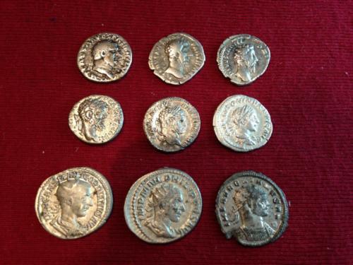EMPIRE ROMAIN- Lot de 9 monnaies. État / ROMAN EMPIRE- Lot of 9 coins. Condition