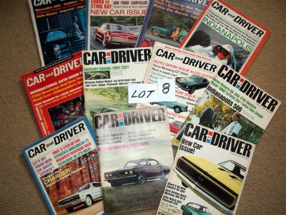 Vintage Sports Car 1965 -1966 -Racing- Tests CAR & DRIVER (11) Magazines Lot #8