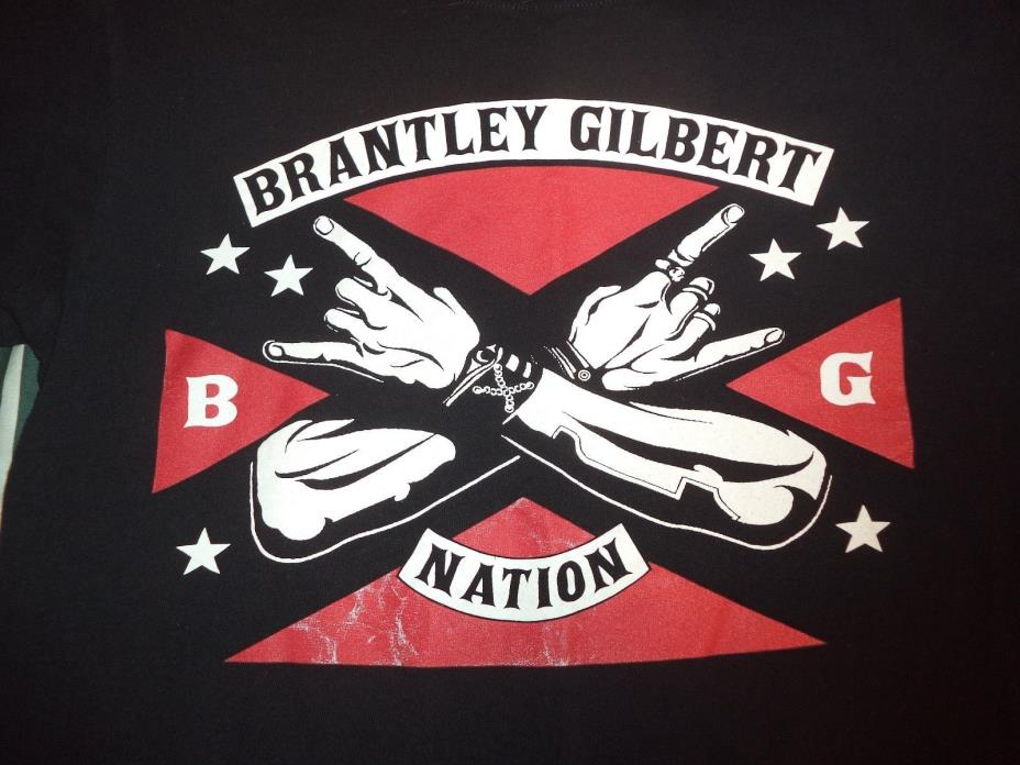 Country Music T Shirt Brantley Gilbert Nation Size MEDIUM Stone Cold