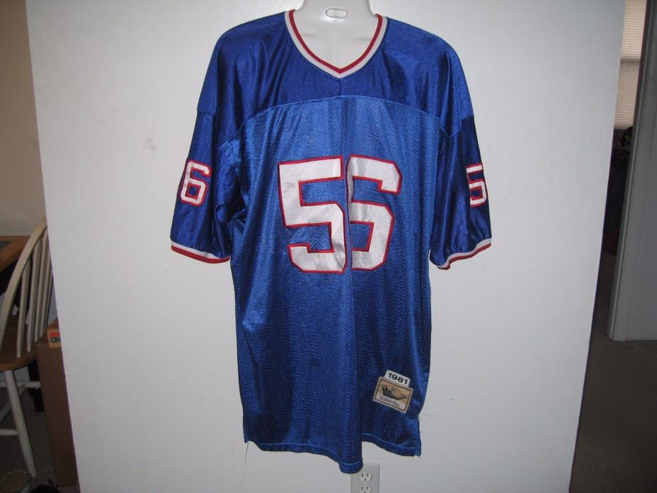 NFL New York Giants Lawrence Taylor # 56 Throwback Mitchell & Ness Jersey 1981