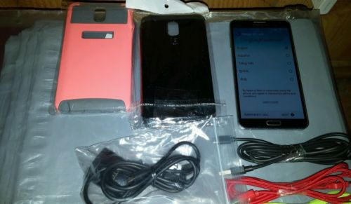 Samsung Galaxy Note 3 Verizon Black w/ chargers & 2 cases