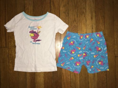 ! The Children's Place blue icecream pajama short sleeve set pj jammies size 6