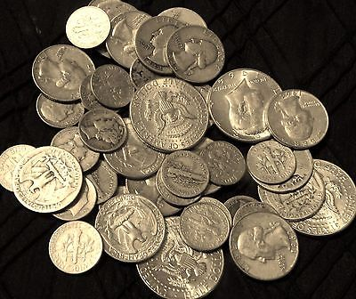 $1.50 Face 90% old U.S silver Coins silver Quarters & Dimes & Half Dollars