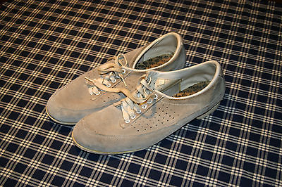 Vintage Mens Hyde Size 11 1/2 Suede Gray Bowling shoes