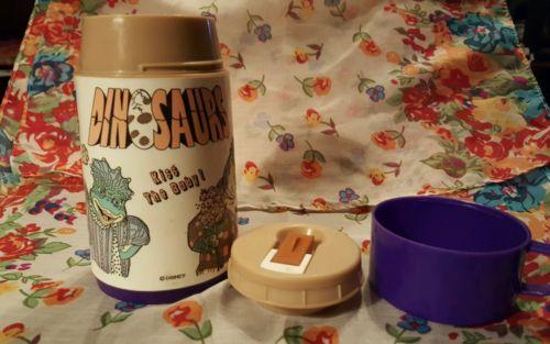 Vintage Disney DINOSAURS TV Show Thermos Aladdin 1990's Kiss The Baby Dinosaur