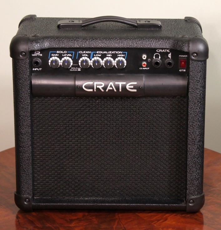 Crate GT15 2 Channel Electric Guitar Combo Practice Amplifier With CD Jack