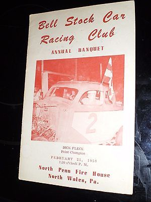 HATFIELD SPEEDWAY STOCK CAR RACING PROGRAM 1958