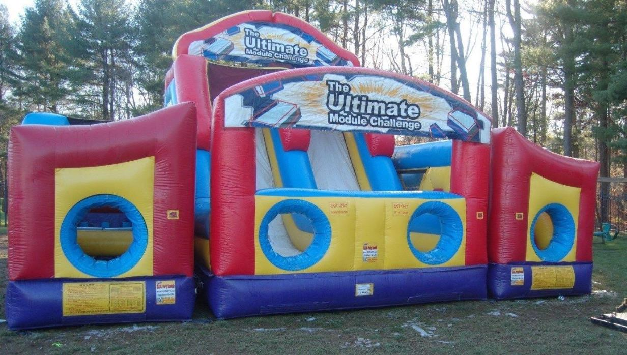 Ultimate Module Challenge inflatable Obstacle course - bounce house
